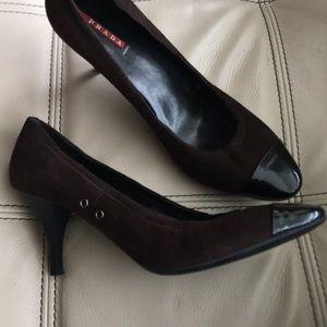 Prada brown suede shoes